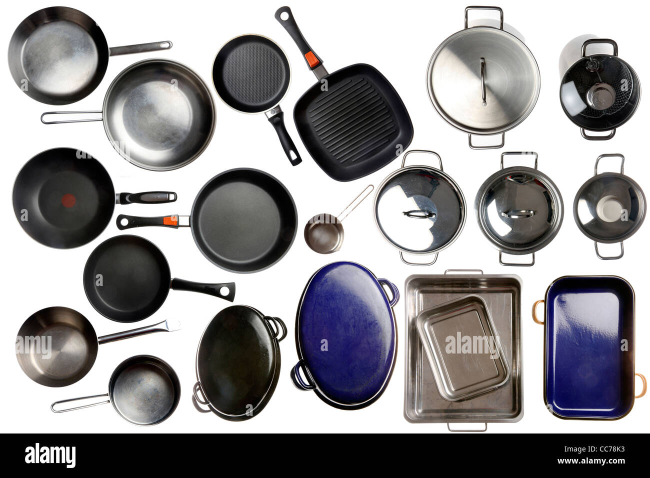 Compilation of various kitchen utensils, kitchen tools. - Stock Image