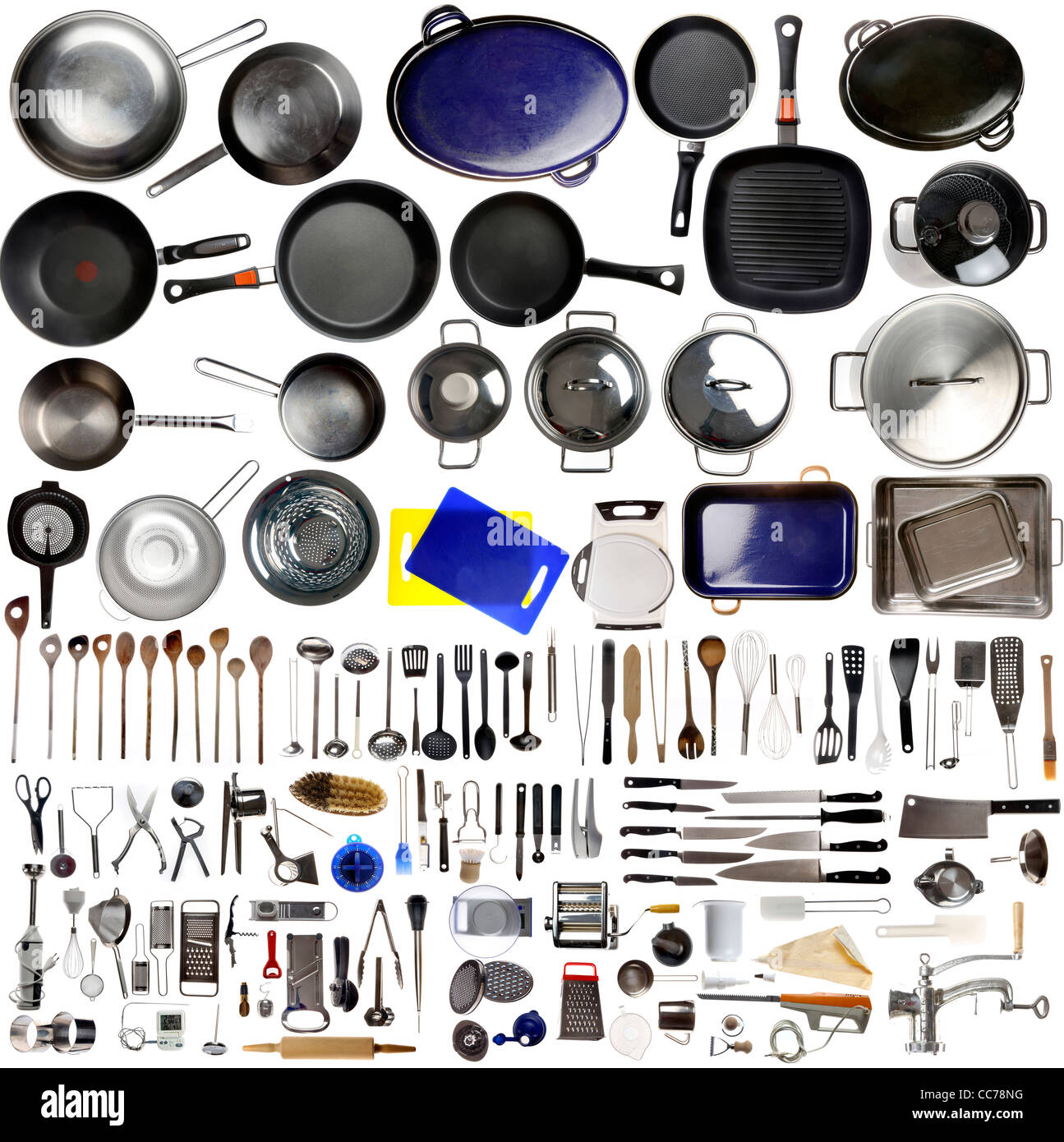Compilation Of Various Kitchen Utensils, Kitchen Tools.