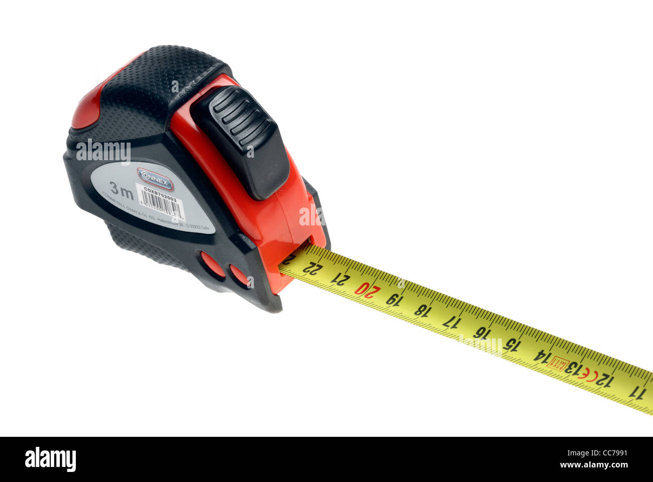 Measuring tape, rollable, tool. - Stock Image