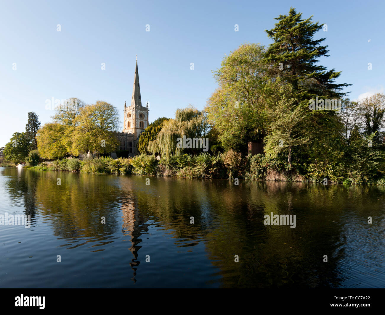 Holy Trinity Church, Stratford-upon-Avon, Warwickshire, England, UK - Stock Image