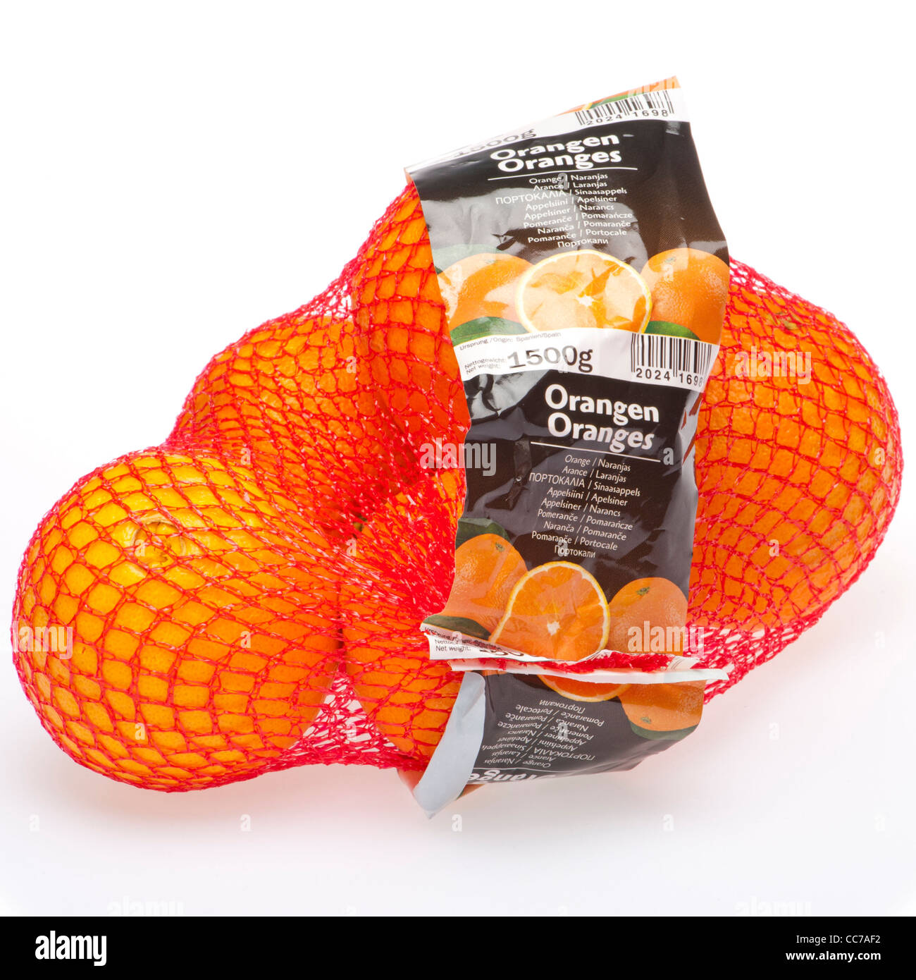 a net of oranges - Stock Image
