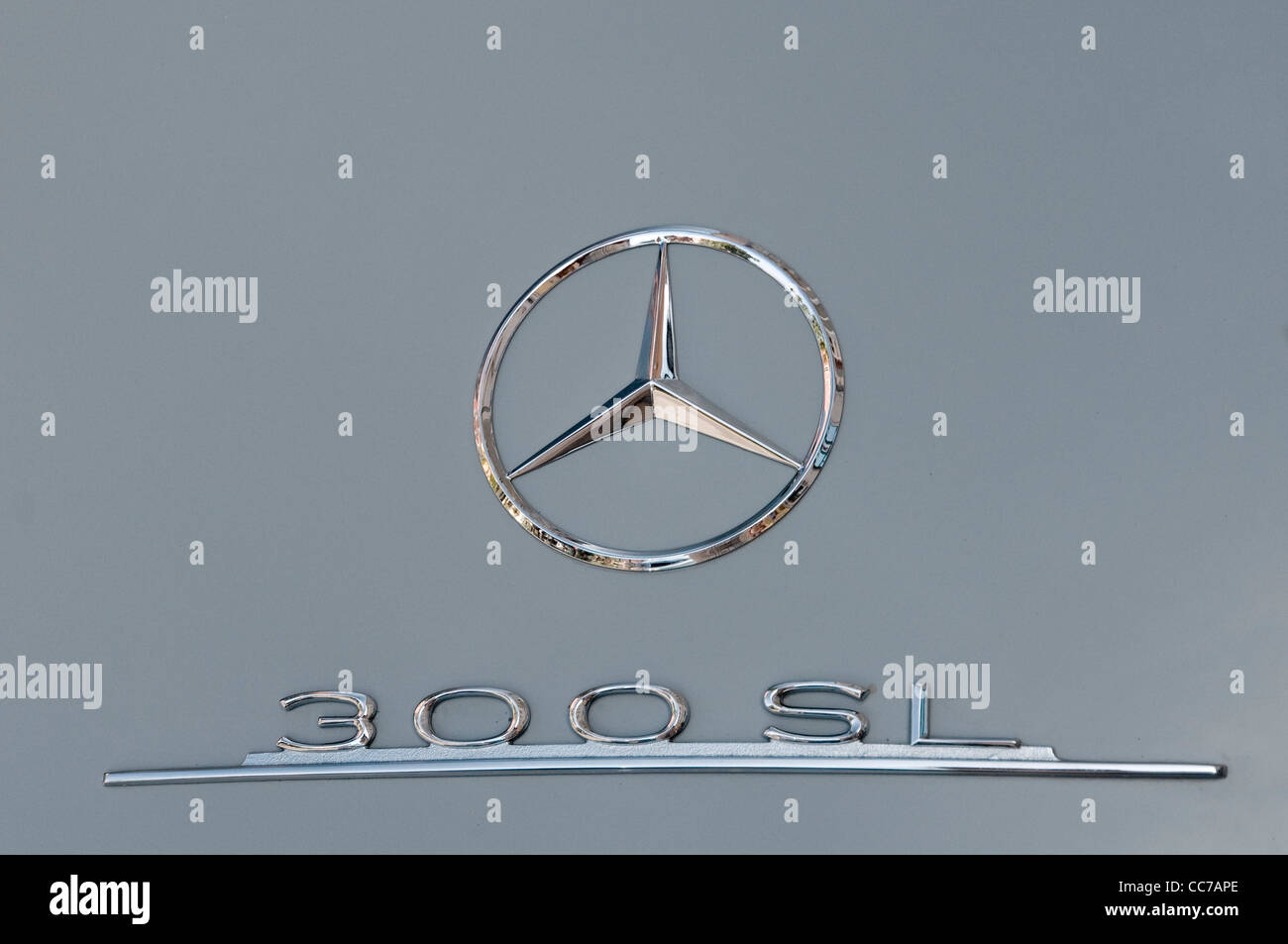 Detail of a Mercedes 300 SL - Stock Image