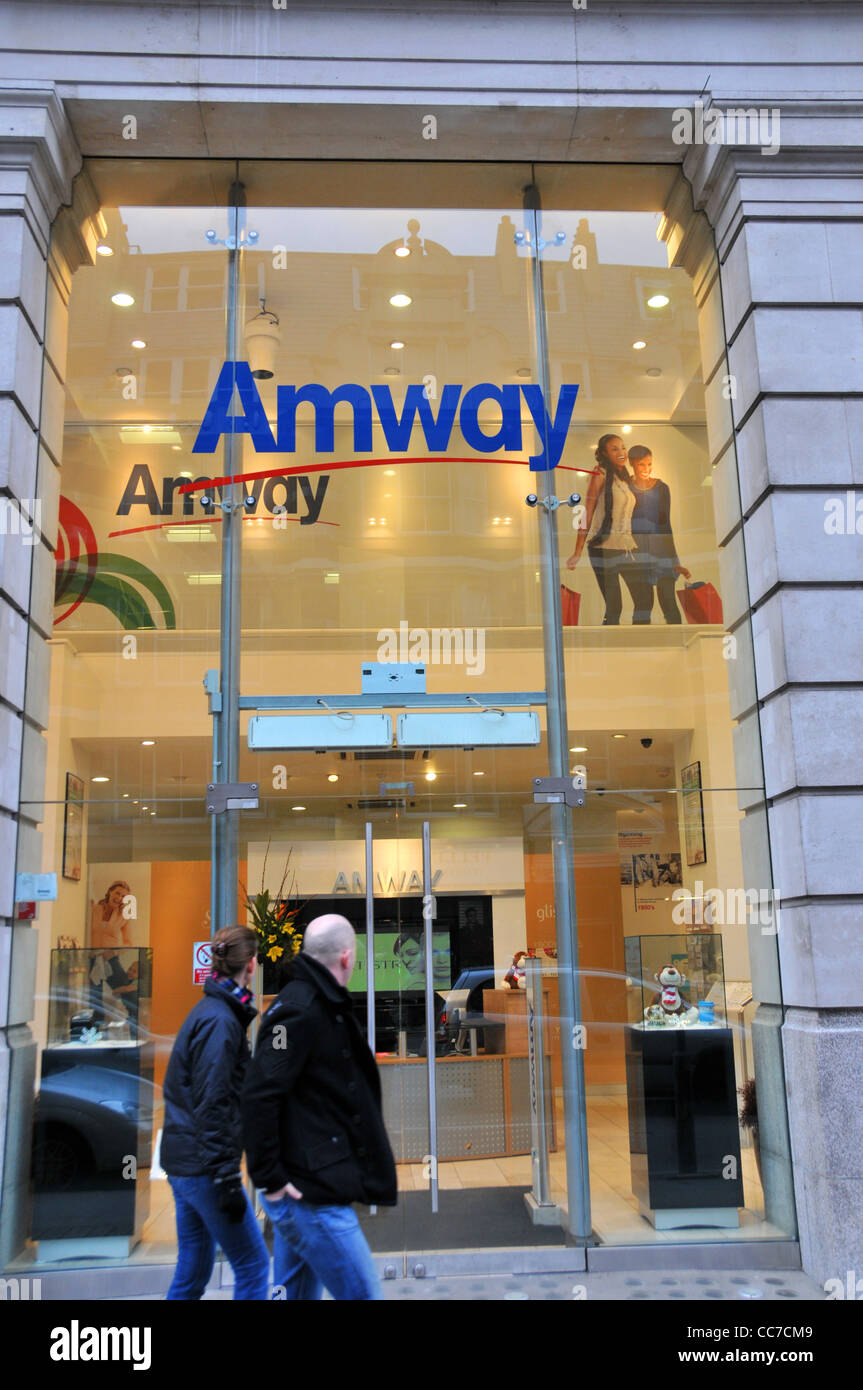 Amway direct selling company manufacturer network marketing products health beauty - Stock Image