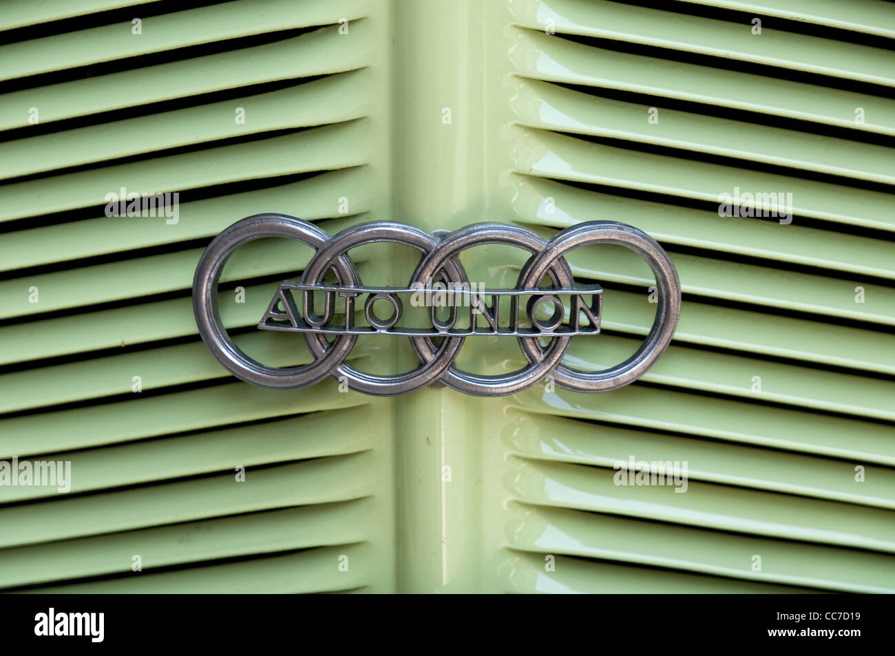 Vintage car, historic Audi, DKW Dampf-Kraft-Wagen, steam-powered car, detail, Bad Langensalza, Thuringia, Germany, - Stock Image