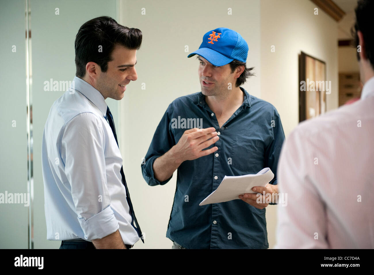 ZACHARY QUINTO & J.C. CHANDOR MARGIN CALL (2011) - Stock Image