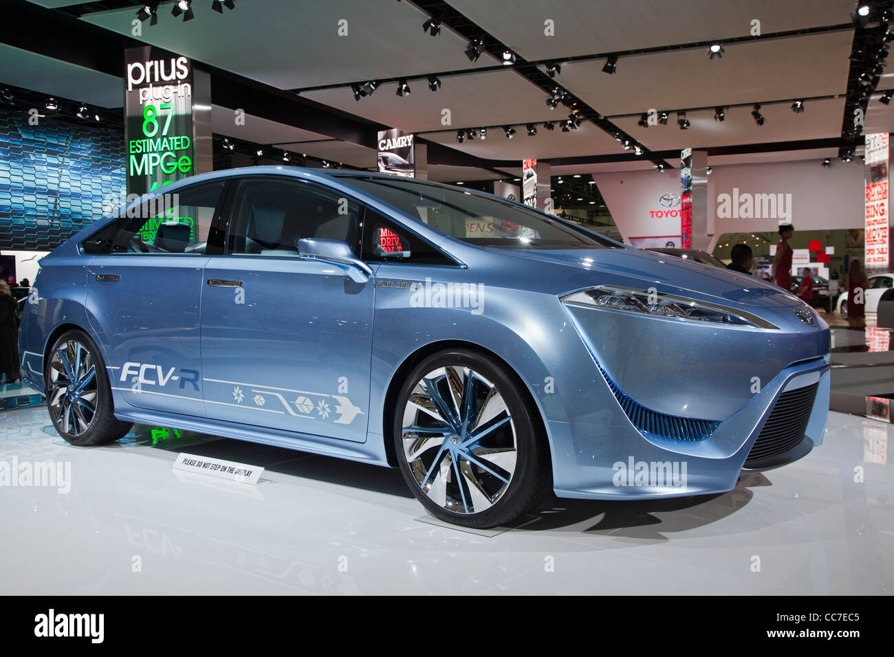 Toyota FCV-R hydrogen fuel cell vehicle Stock Photo