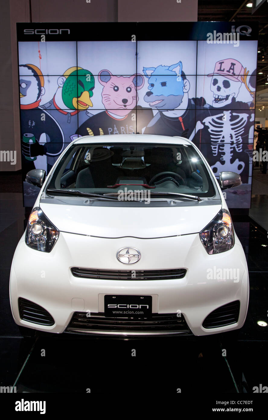 Detroit, Michigan - The Scion IQ on display at the North American International Auto Show. - Stock Image