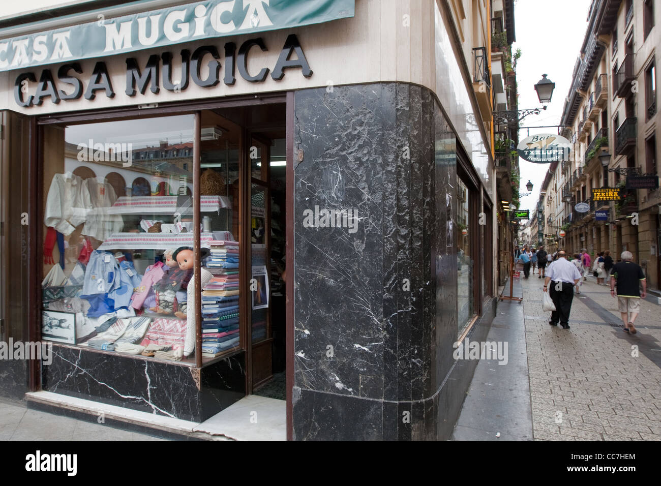 Traditional shop Donostia - San Sebastian Spain - Stock Image