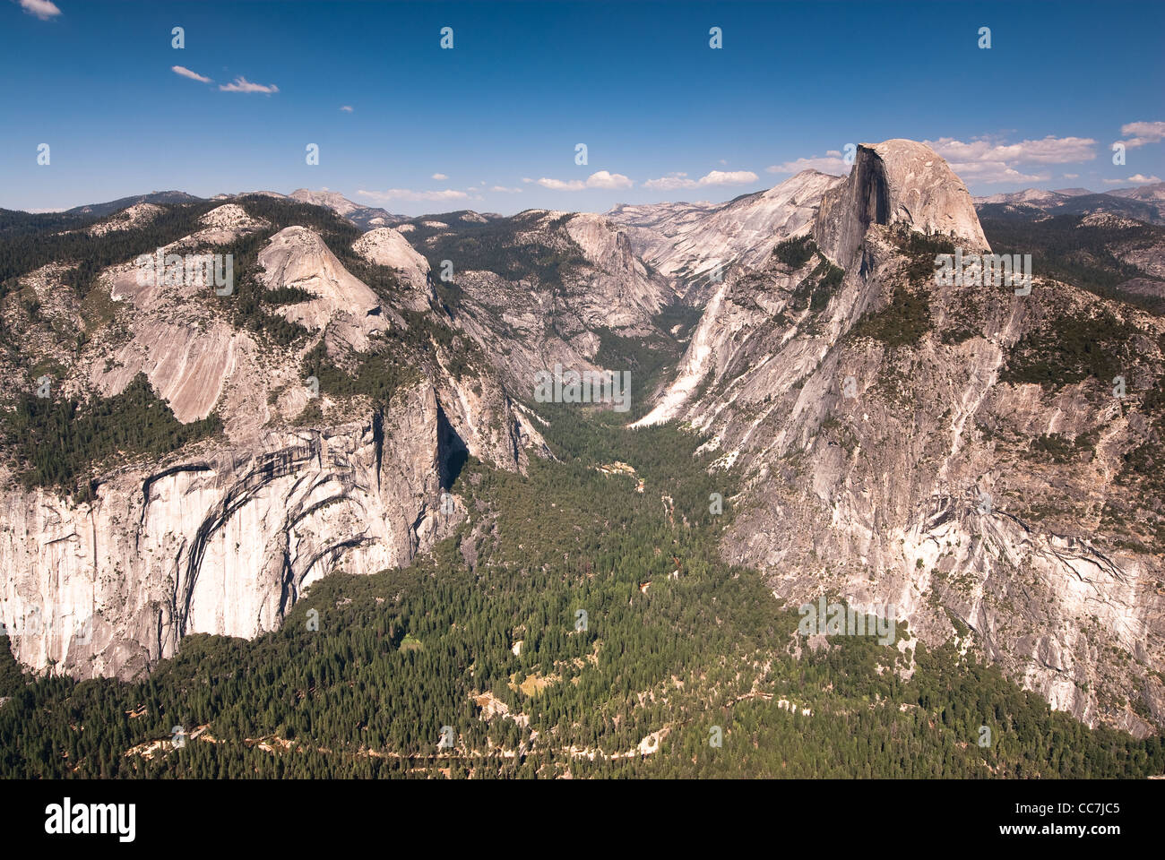 yosemite national park. view from observation point. california, usa - Stock Image