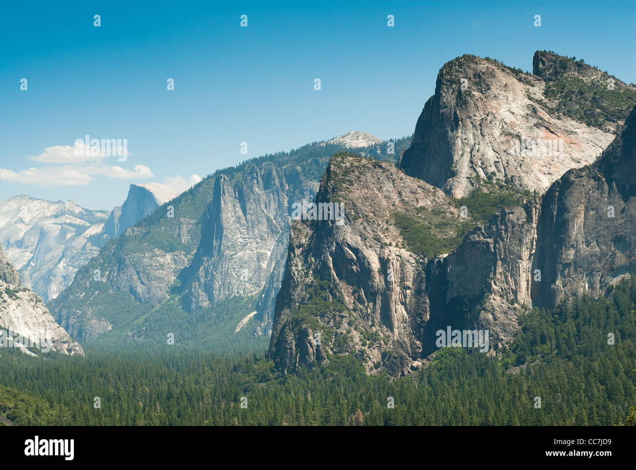 half dom and yosemite valley from tunnel view in yosemite national park, california, usa Stock Photo