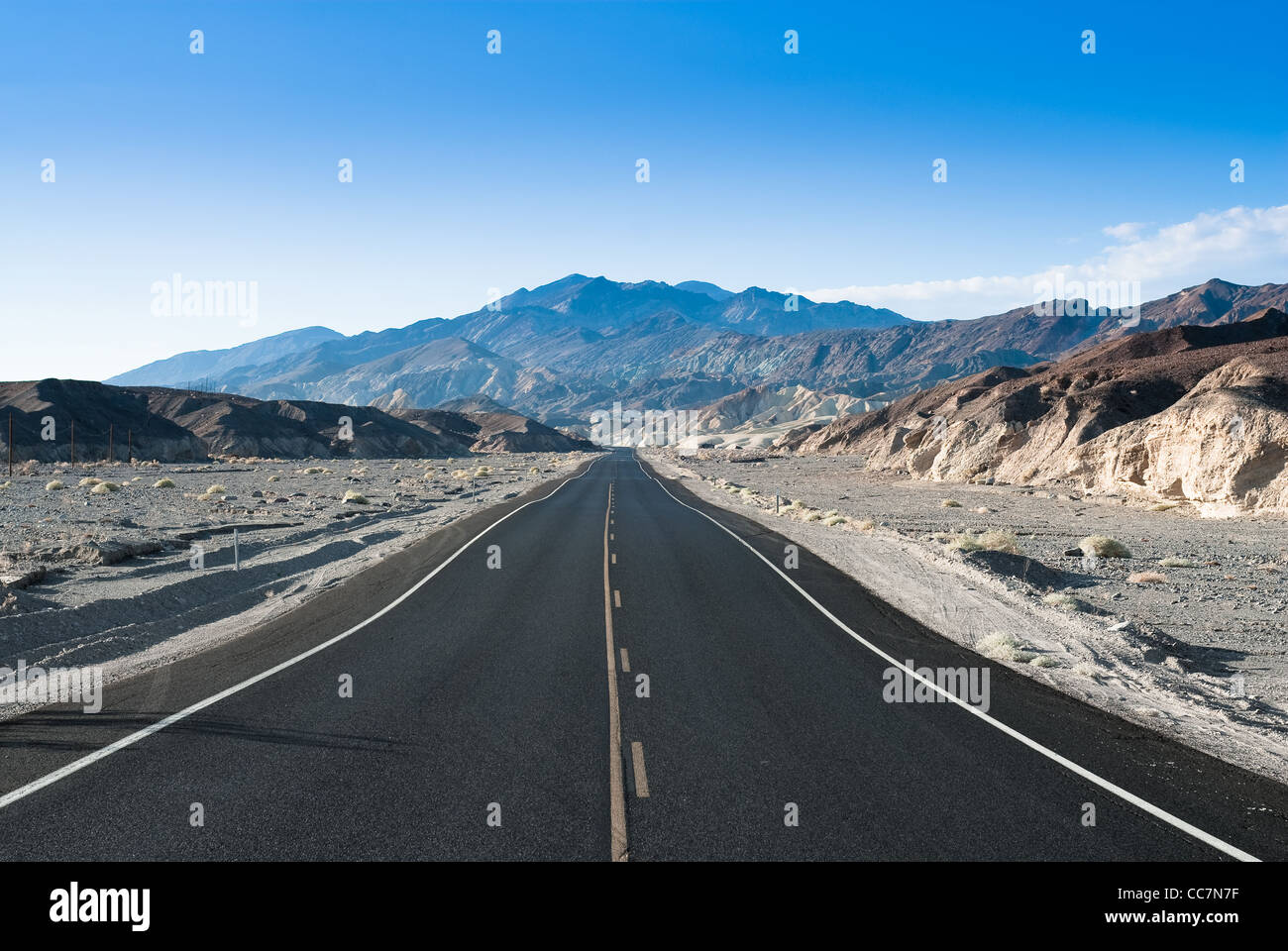highway in death valley national park, nevada, usa - Stock Image