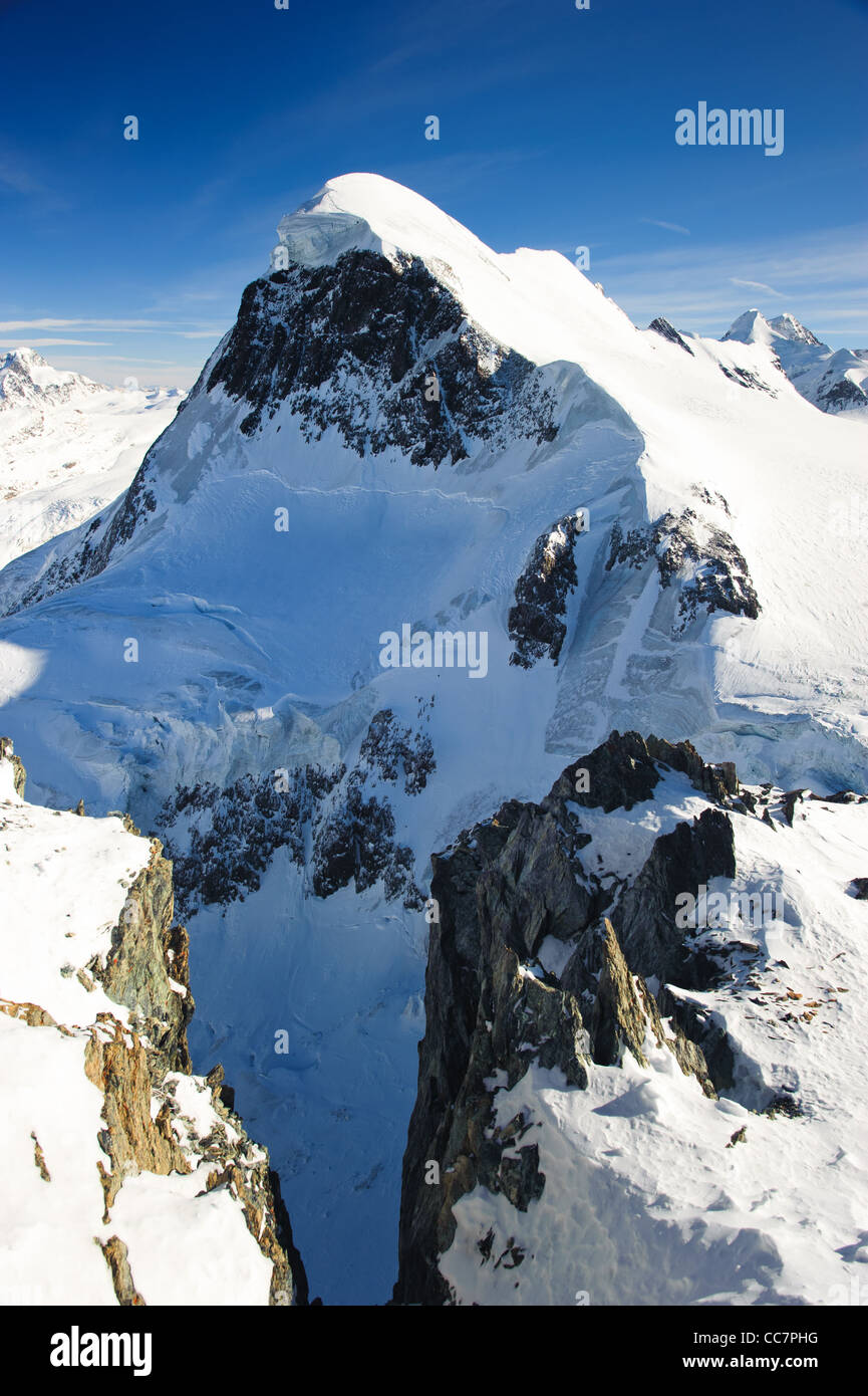 Breithorn mountain peak. View from kl. Matterhorn, Zermatt, Switzerland Stock Photo