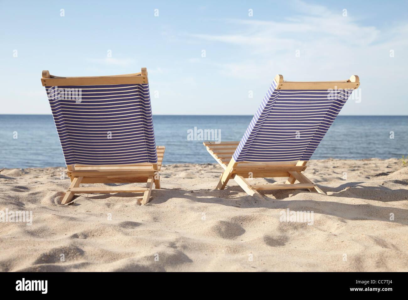 Beach Chairs Boltenhagen Mecklenburg Vorpommern Baltic Sea Stock Photo Alamy