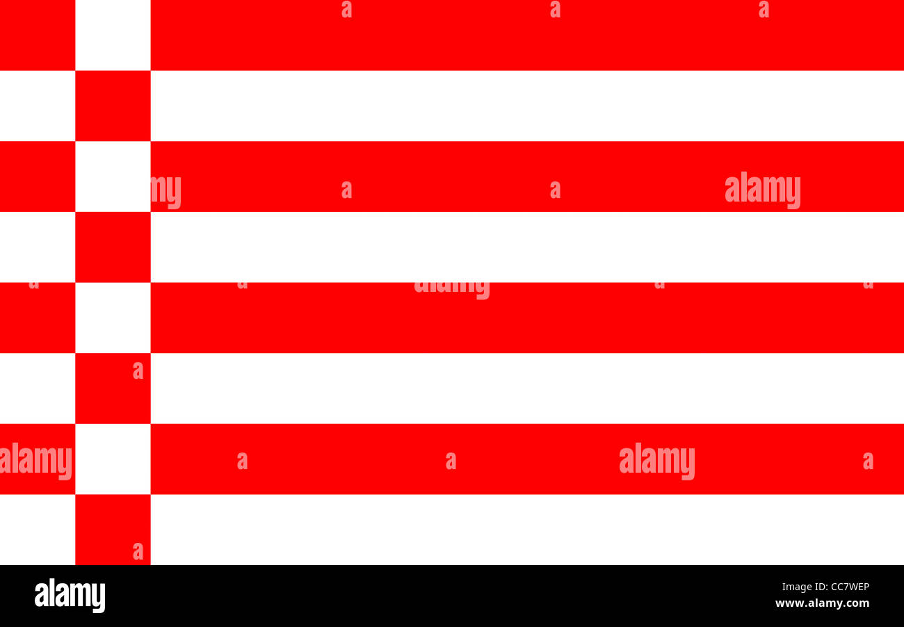 Flag of the Hanseatic town Bremen. - Stock Image