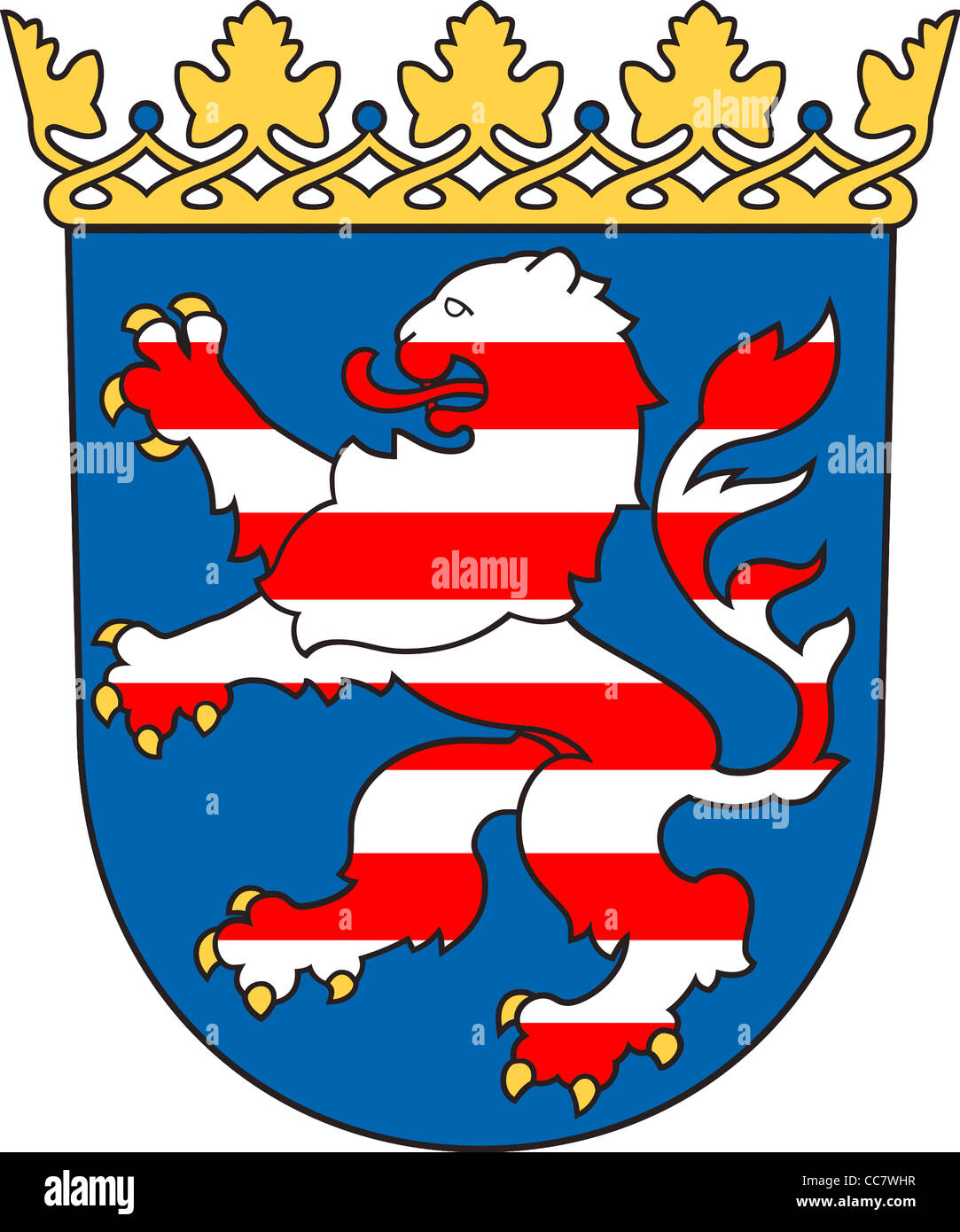 Coat of arms of the German federal state Hesse. - Stock Image
