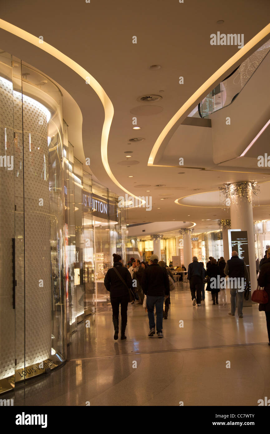 Luxury Shopping section 'The Village' at Westfield Mall in Sheperds Bush - London - Stock Image