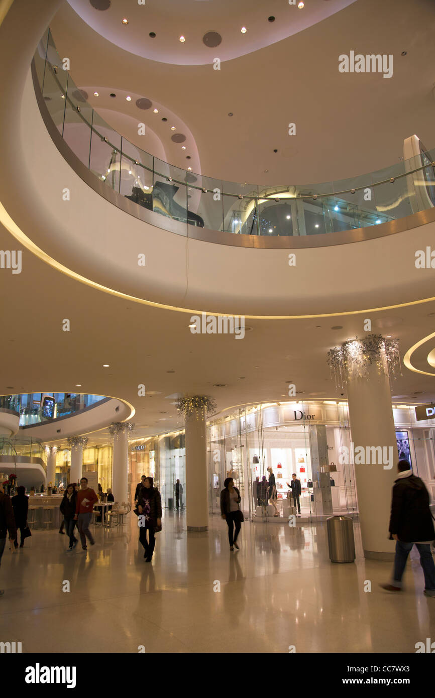 Luxury Shopping section 'The Village' at Westfield Mall in Shepherds Bush - London - Stock Image