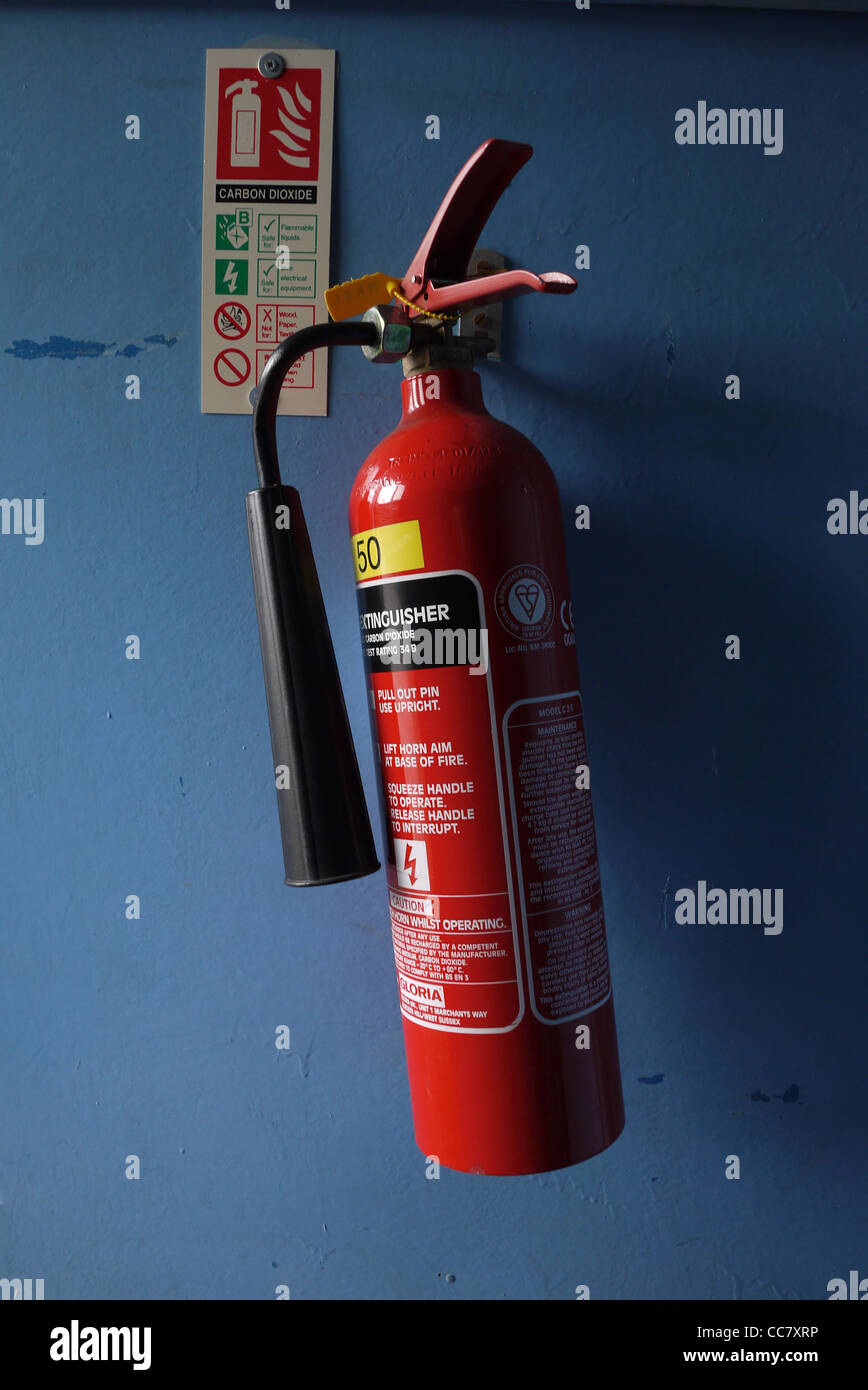 Carbon Dioxide Fire Extinguisher - Stock Image
