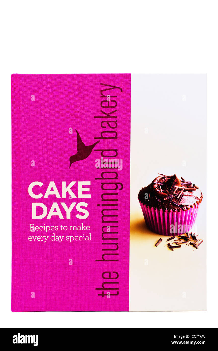 A Cake Days recipe book fron the hummingbird bakery on a white background - Stock Image