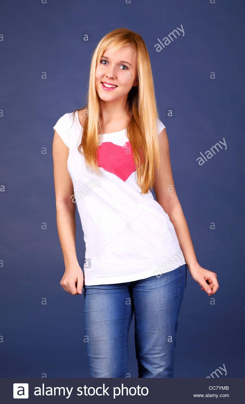 Cute teenage fashion - Stock Image