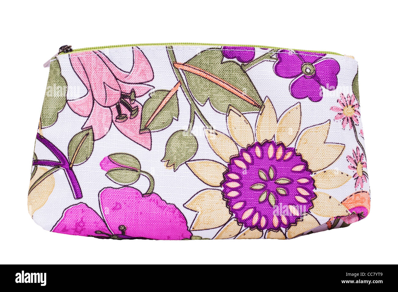 A Clinique makeup bag on a white background - Stock Image