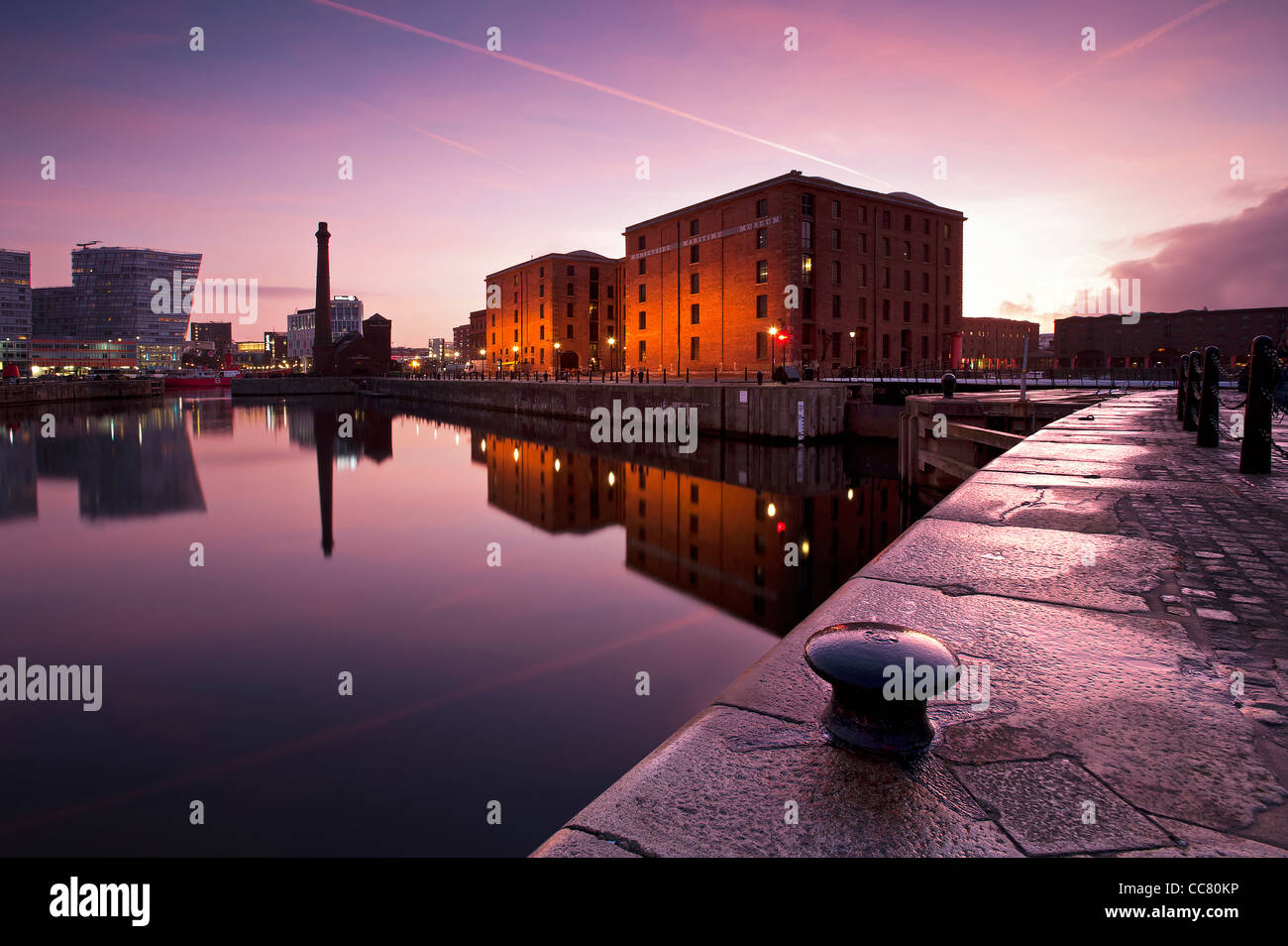 The Albert Dock Liverpool Merseyside UK - Stock Image