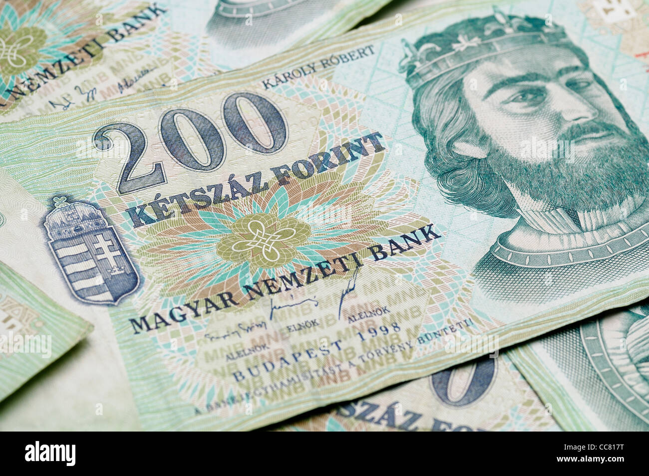 Forint Note, Currency of Hungary. The Forint has seen heavy falls against the Euro, as the country struggles with - Stock Image