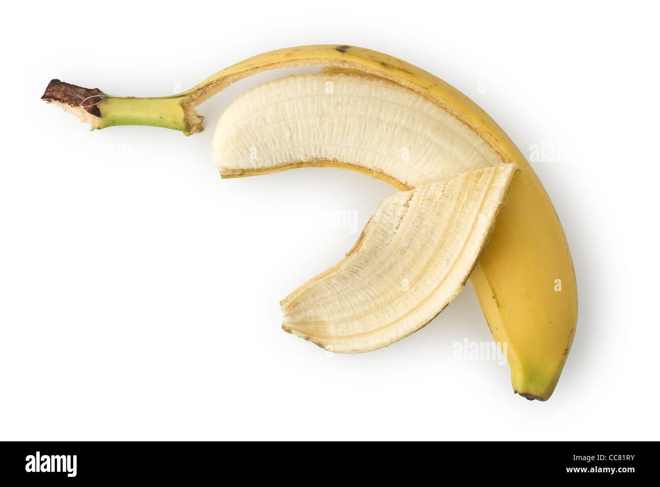 Peeled Banana as Healthy and Nutritious Dietary Supplement - Stock Image
