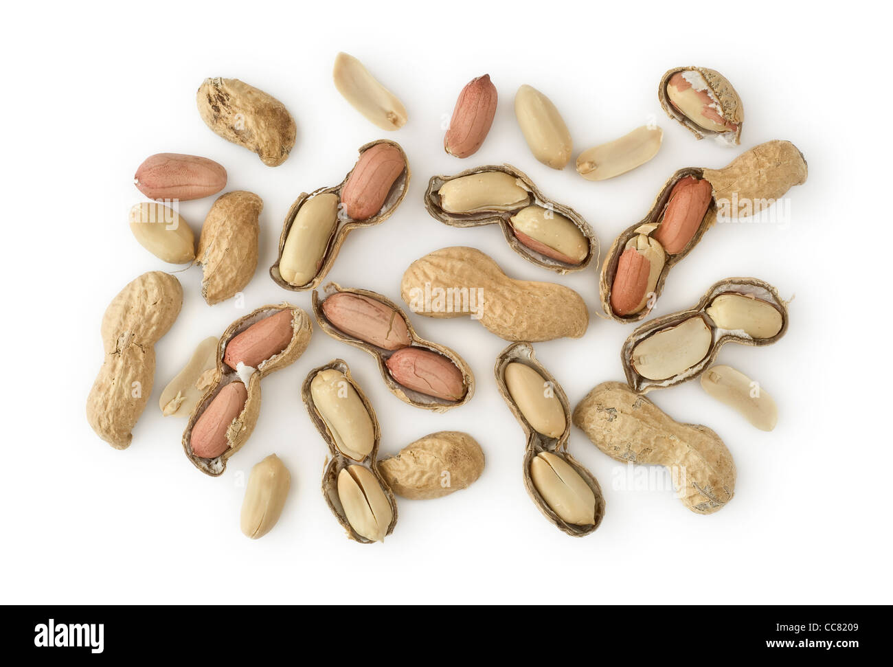 Peanuts as Healthy and Nutritious Dietary Supplement - Stock Image