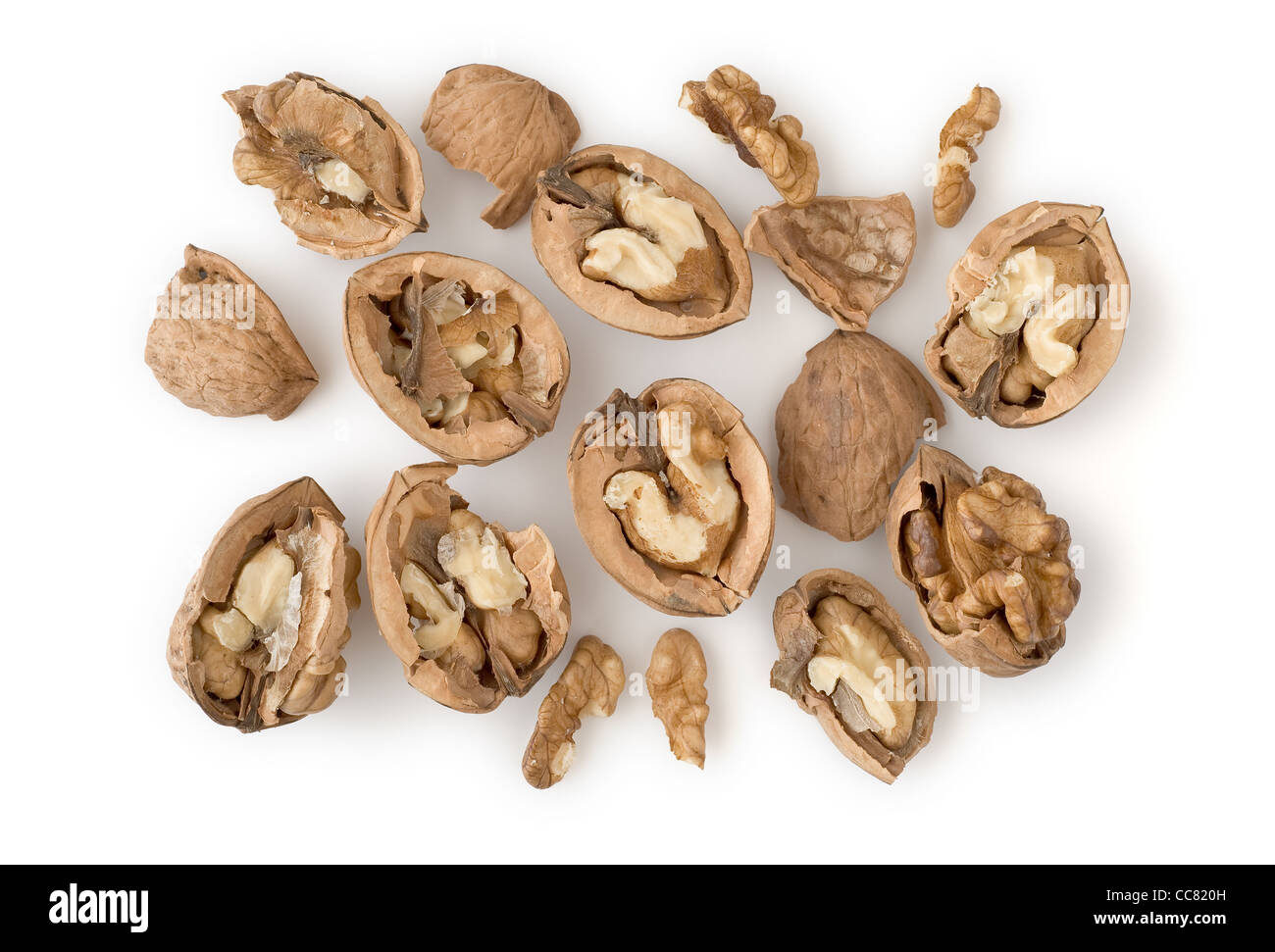 Walnuts as Healthy and Nutritious Dietary Supplement - Stock Image