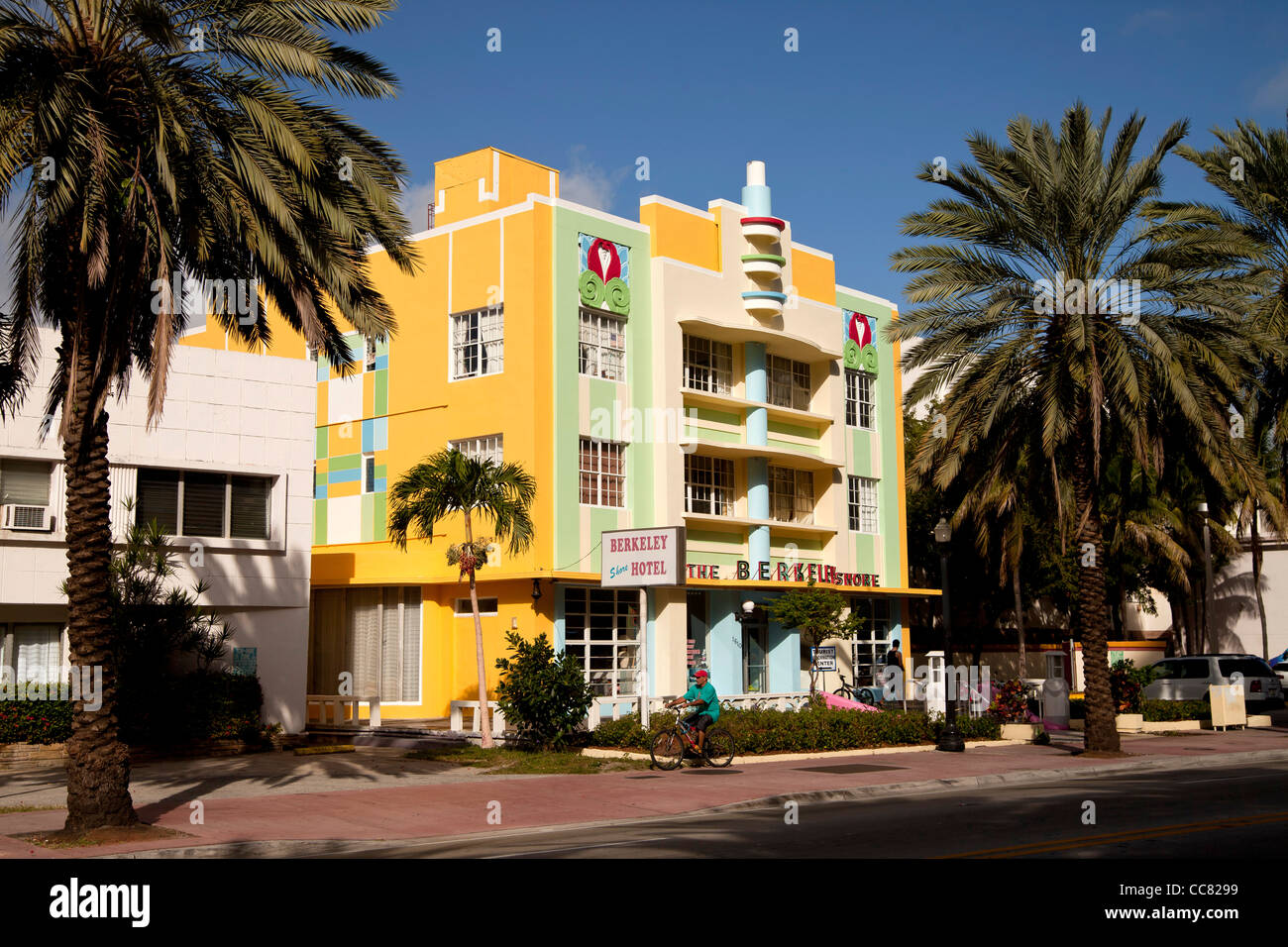 Art Deco Berkeley Shore Hotel, South Beach, Miami, Florida, USA - Stock Image