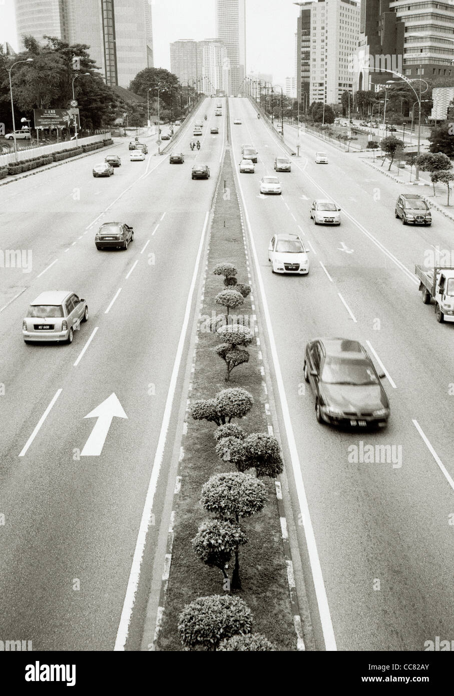 Travel Photography Car Driving On A Modern Highway In Kuala Lumpur Stock Photo Alamy