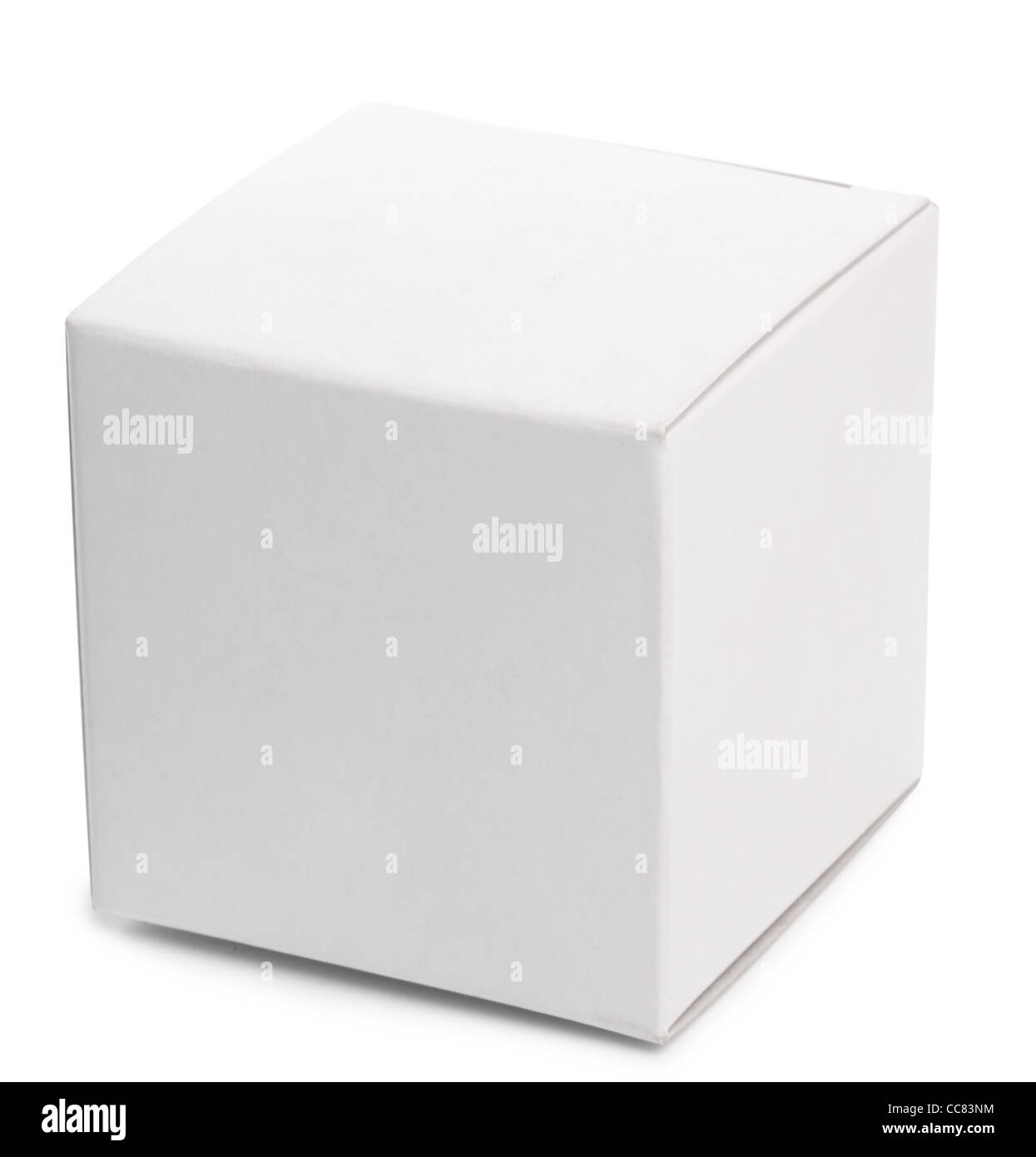 White box over white background. - Stock Image