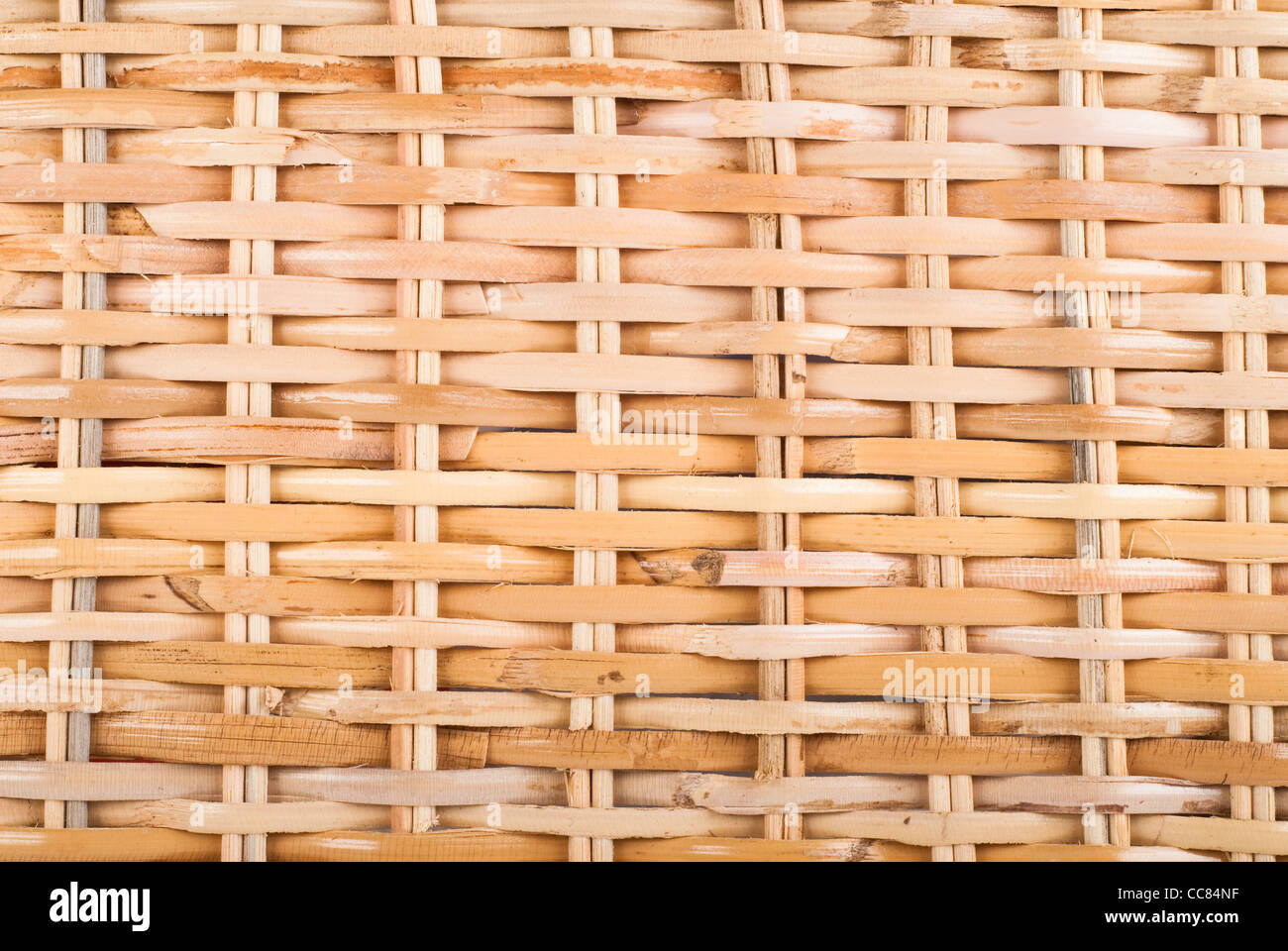 stained basket texture closeup - Stock Image