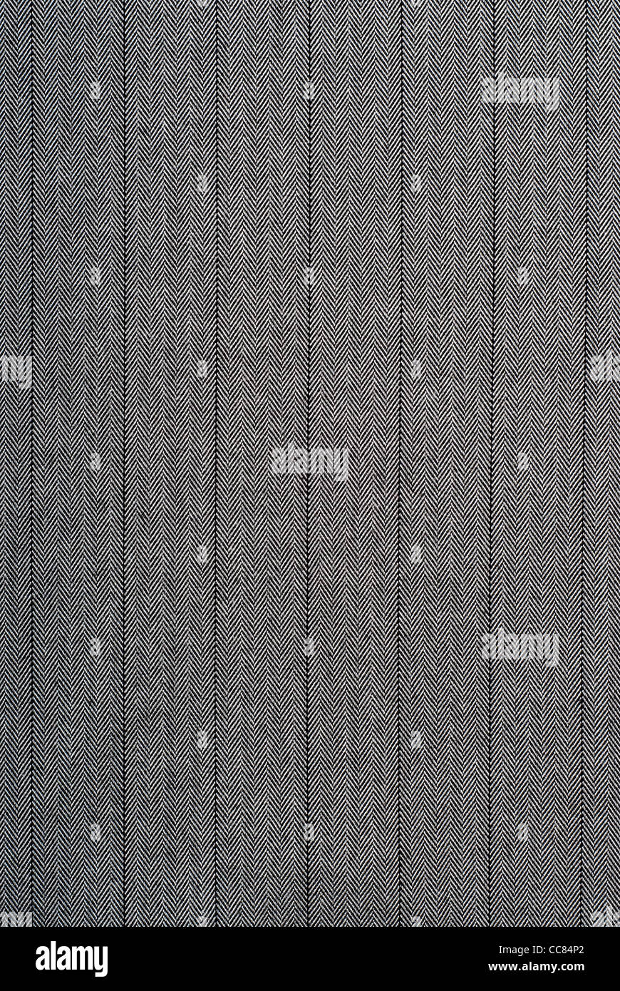 closeup of a black and white striped fabric suitable as a texture - Stock Image