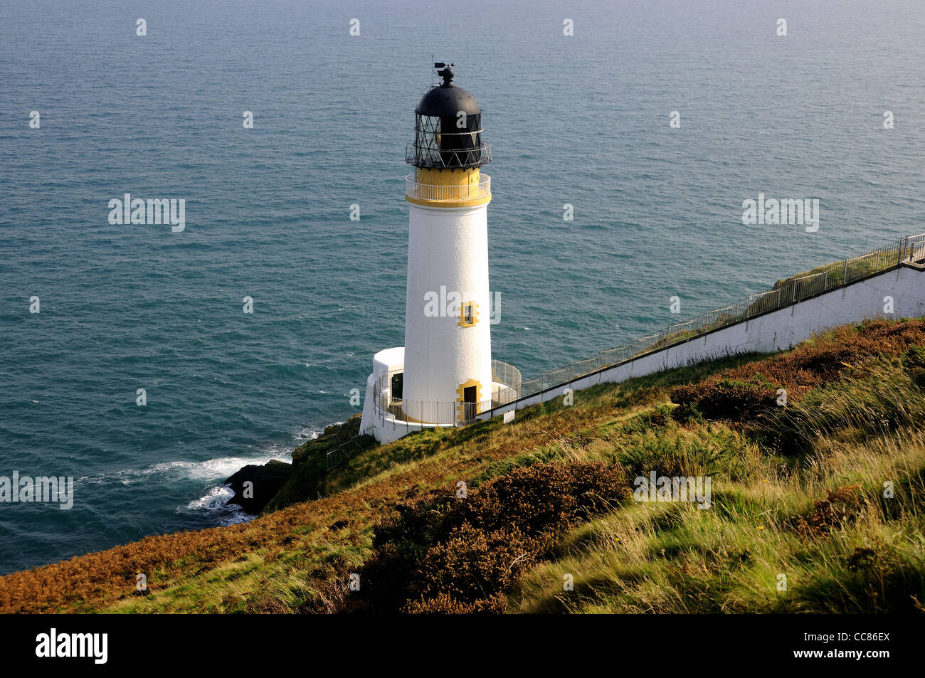 Maughold Head Lighthouse, The Isle of Man Stock Photo