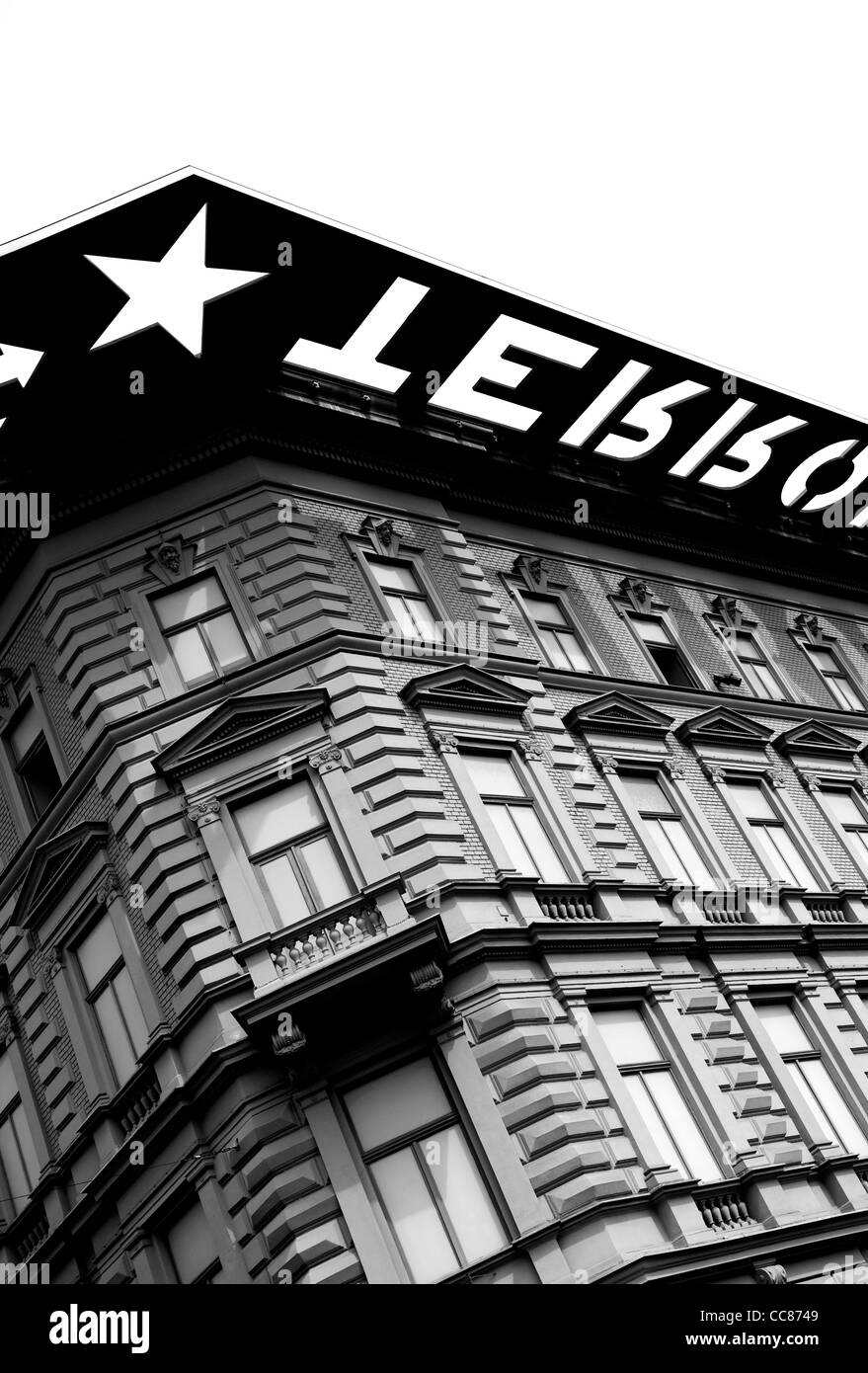 The House of Terror, 60 Andrassy St, Budapest, Hungary - former HQ of Hungary's feared secret police and now a museum. Stock Photo