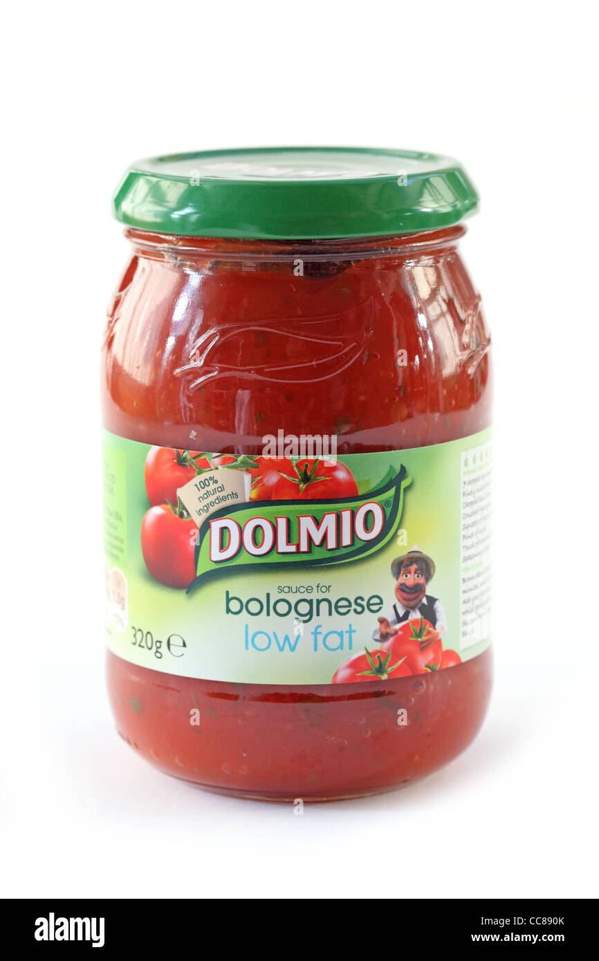 dolmio bolognese souse low fat jar - Stock Image