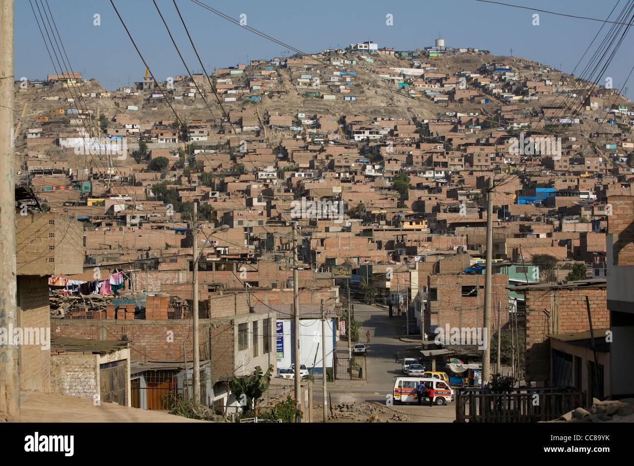 Villa el Salvador is a suburb of Lima, Peru, South America. - Stock Image