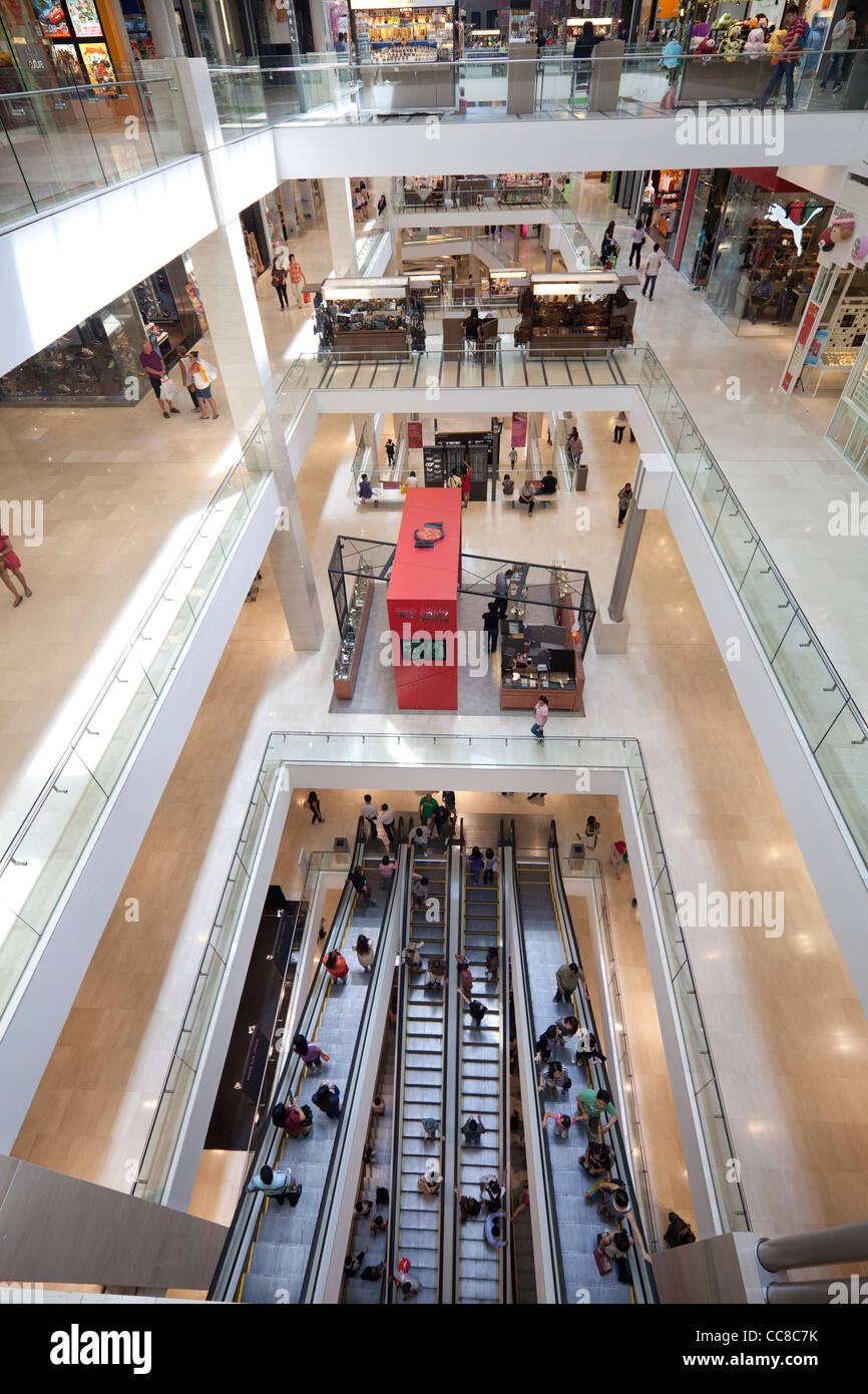 interior of Pavilion mall, Kuala Lumpur, Malaysia - Stock Image