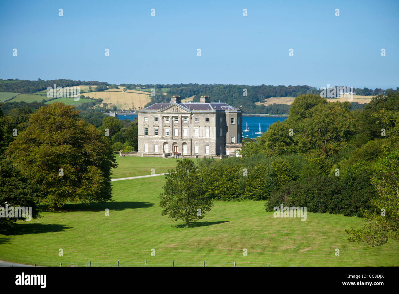 The 18th century manor house of Castle Ward, Strangford Lough, County Down, Northern Ireland. Stock Photo