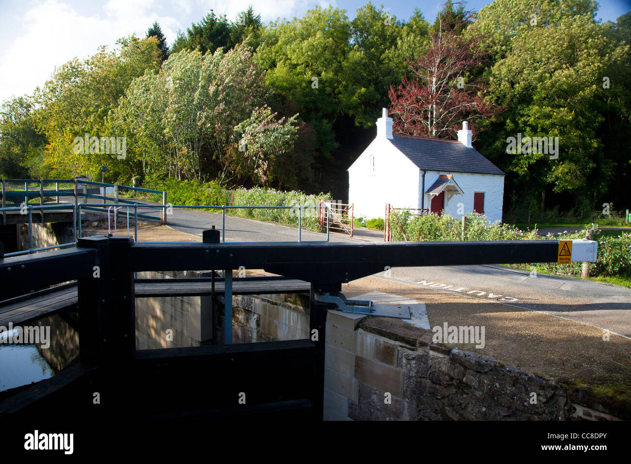 The Lock Keeper's Cottage on the Lagan Towpath, Belfast, County Down, Northern Ireland. - Stock Image