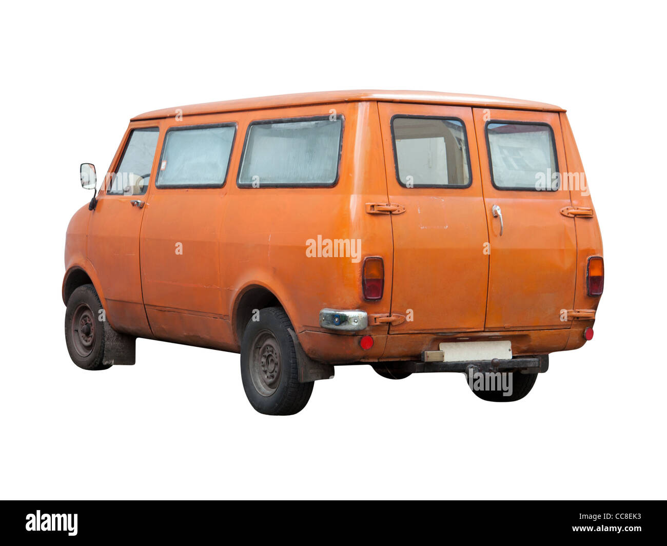 Vintage Transportation Van from Seventies (1970s) - Stock Image
