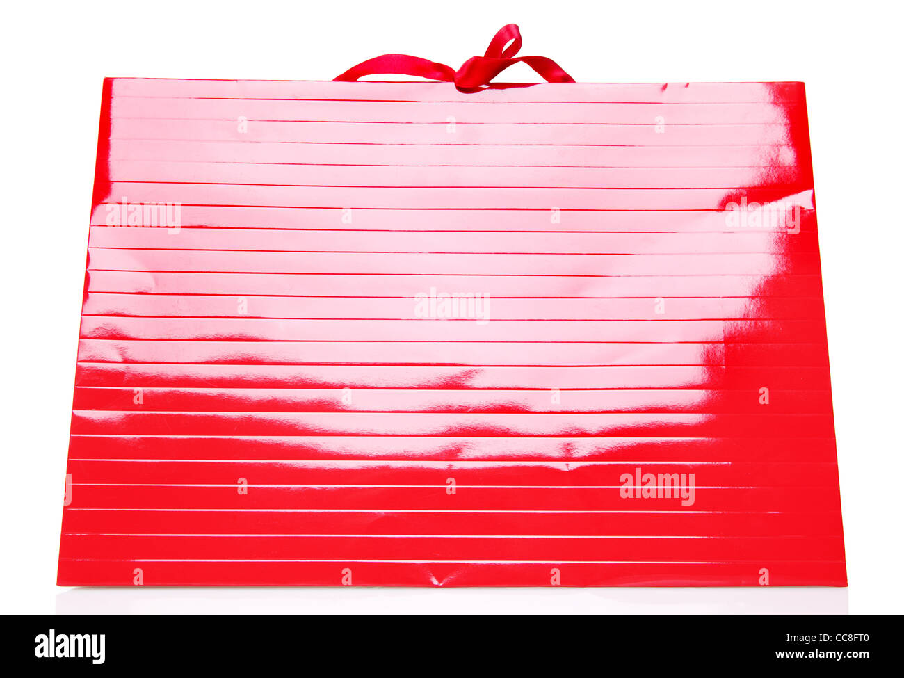 Red Shopping Bag isolated on white - Stock Image