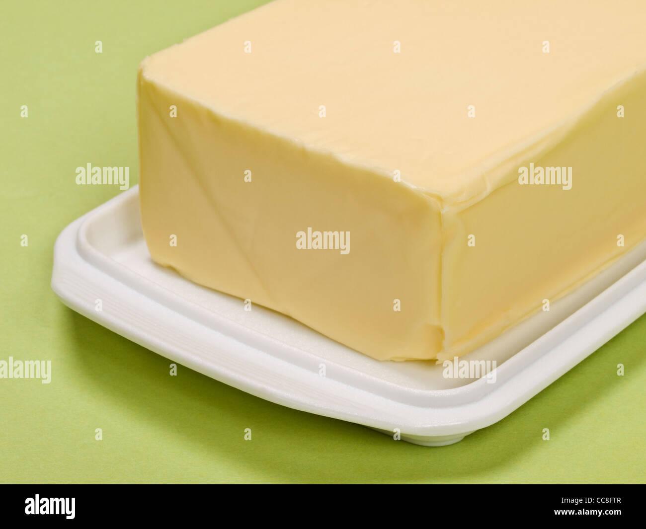 Detailansicht von einem Stück Butter | Detail photo of a piece of butter - Stock Image