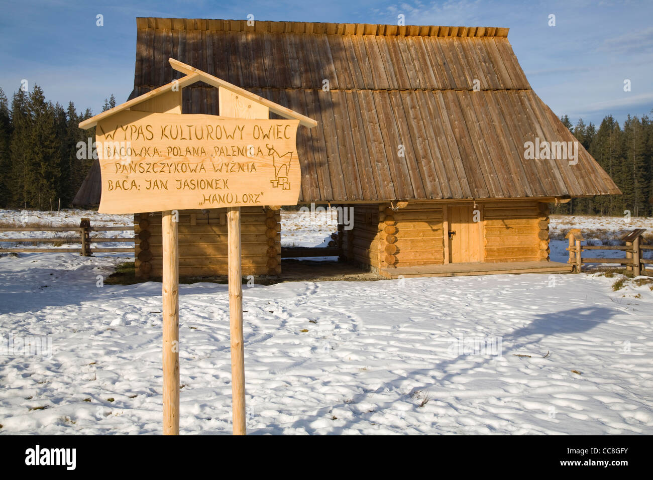 Traditional Stables for sheep, Tatra Mountains, Poland, Near, Zakopane, - Stock Image