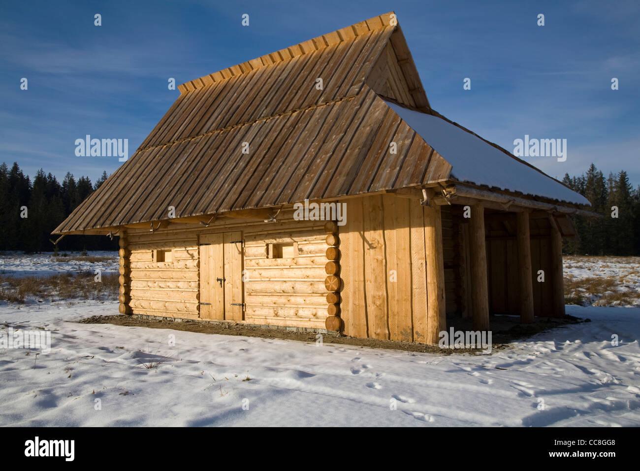 Traditional Stables for sheep, Tatra Mountains, Poland, Near, Zakopane, - Stock Image