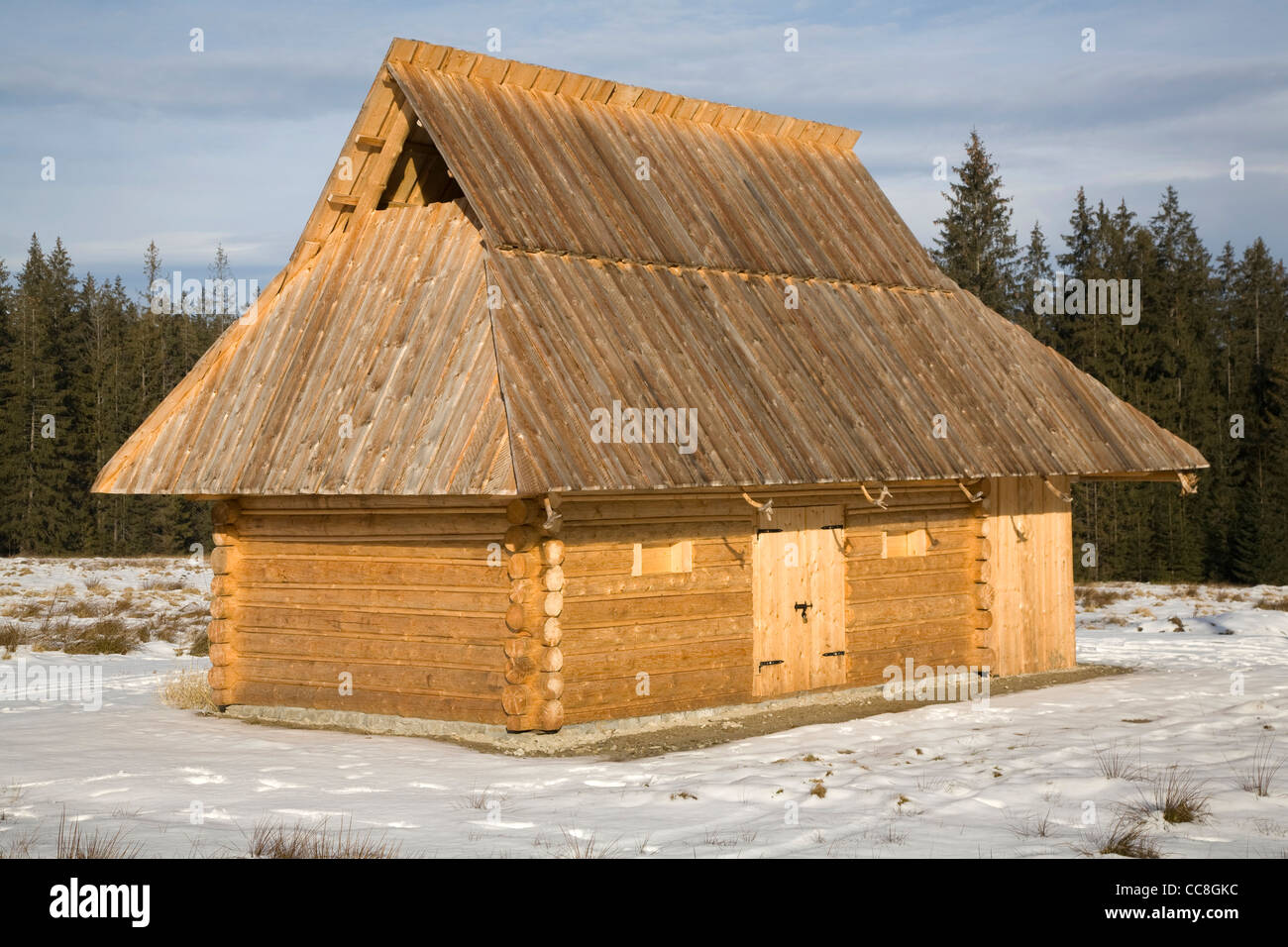 Traditional Stables for sheep, Tatra Mountains, Poland - Stock Image