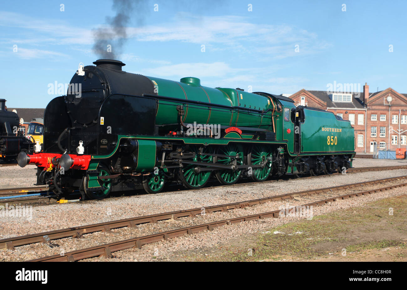 SR Maunsell 4-6-0 Locomotive No.850 Lord Nelson at Eastleigh centenary open day - Stock Image
