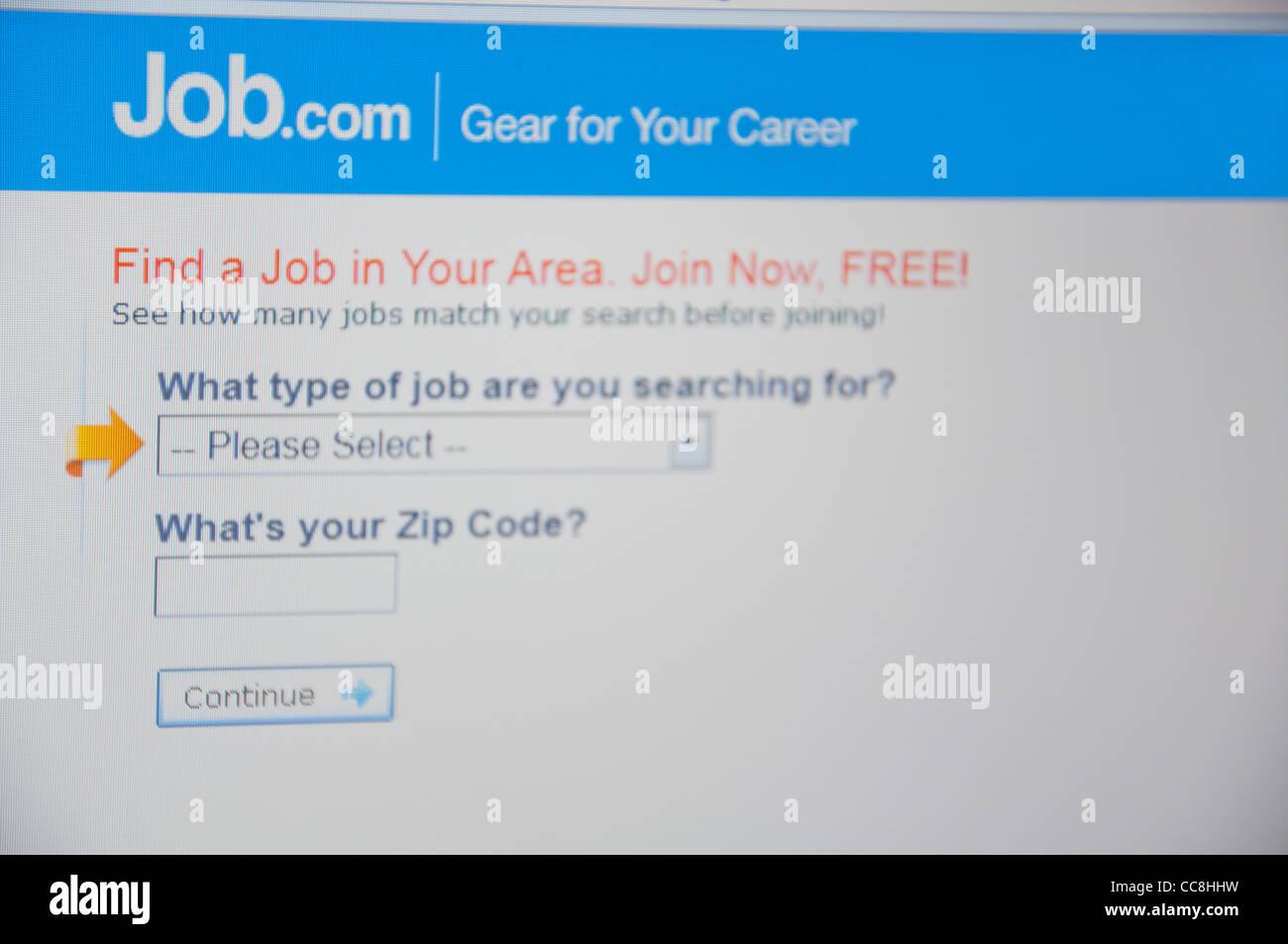 Job website online screenshot screen shot - Stock Image